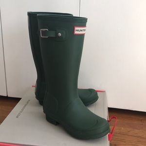 Hunter green kids hunter boots